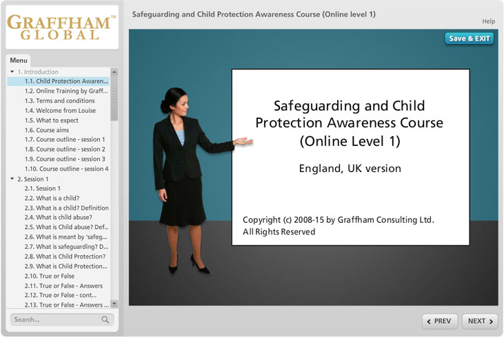 child abuse coursework online california