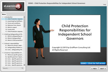 Online - Child Protection Responsibilities for Independent School Governors